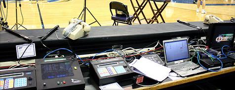 Il tavolo degli ufficiali di campo dei Washington Wizards